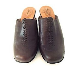 Clarks Shoes Mules Slip On Clogs Brown 9 Medium